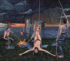 Aris Kalaizis - Das Martyrium des Hl. Bartholomäus oder das doppelte Martyrium | Öl auf Leinwand | 250x285 cm | 2014/15