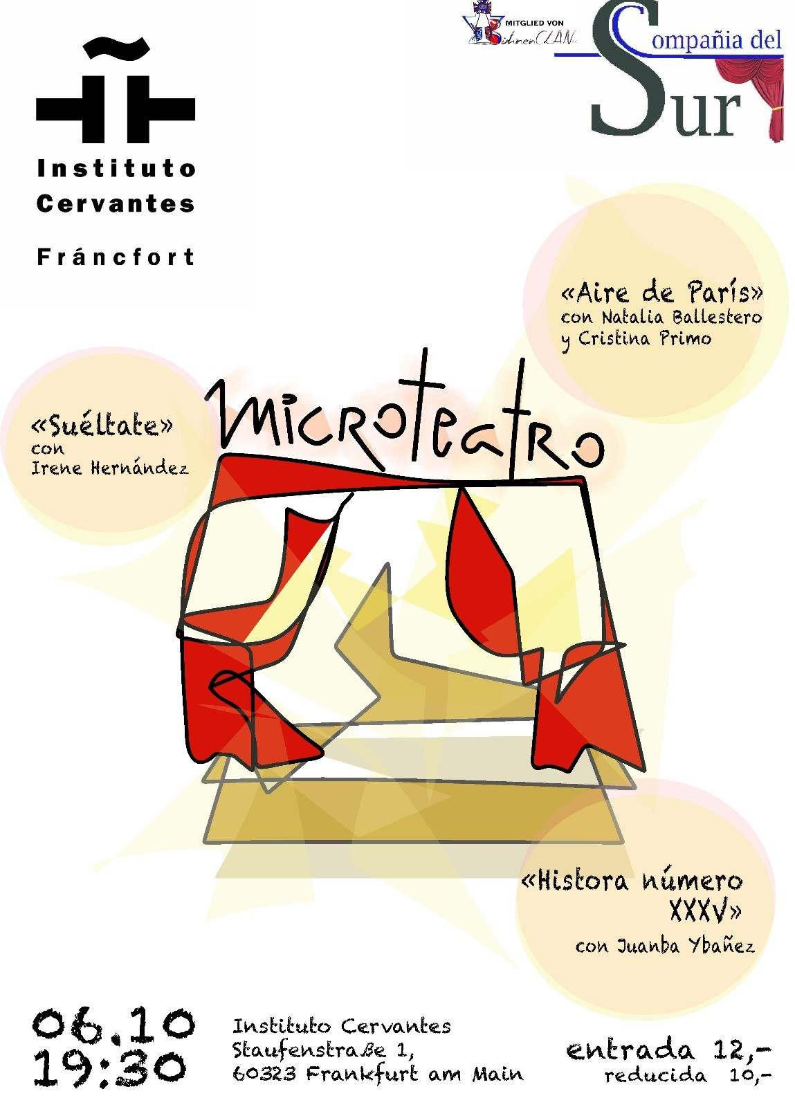 Mikrotheater am 6. Oktober 2018 im Instituto Cervantes Frankfurt