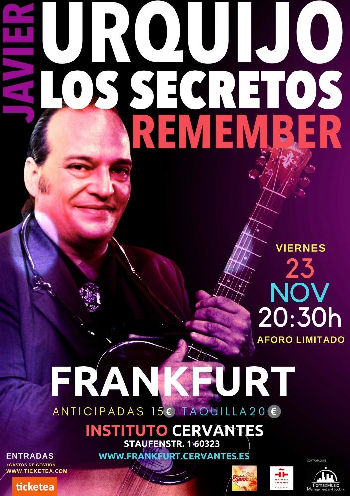 Javier Urquijo live im Instituto Cervantes Frankfurt